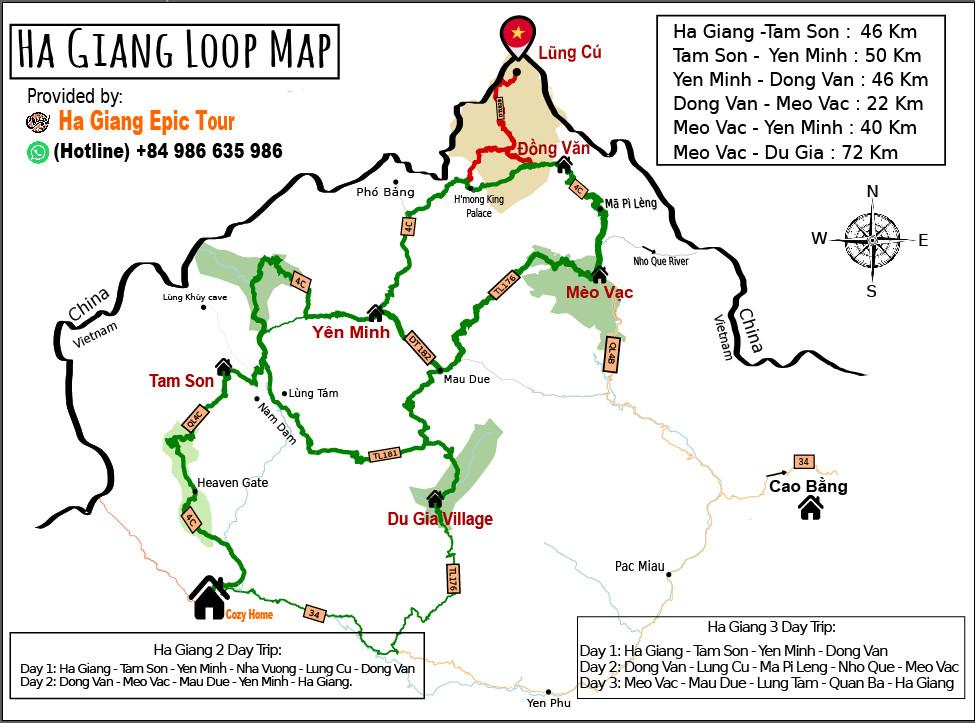 Bản đồ du lịch Hà Giang
